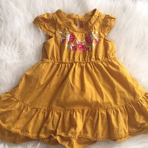 Mustard toddler girl dress